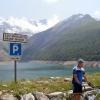 Innsjøen langt oppe i fjellet på sørsiden
