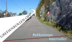 Grefsenkollen opp på sykkel, 3.9km
