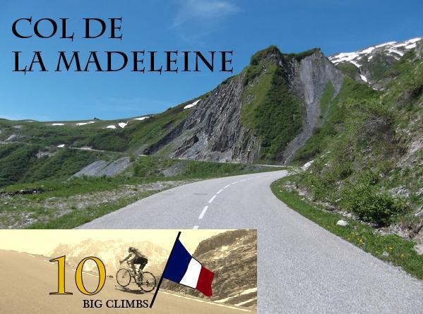 Col du Madeleine. 1993 moh. Svært ofte brukt i Tour de France.