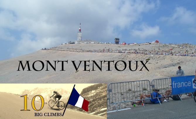 "Mont Ventoux, 1909 moh. ""Vindfjellet"". Regnes som det hardeste fjellet som brukes i Tour de France. En klassiker."