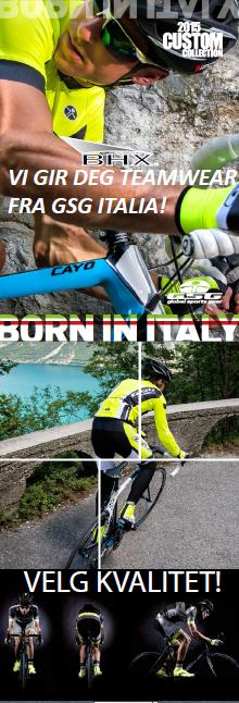 TEAMbekledning fra GSG ITALIA
