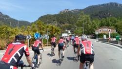 Tursyklistene fra Trondheim i klatremodus på Mallorca
