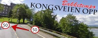Kongsveien opp på sykkel